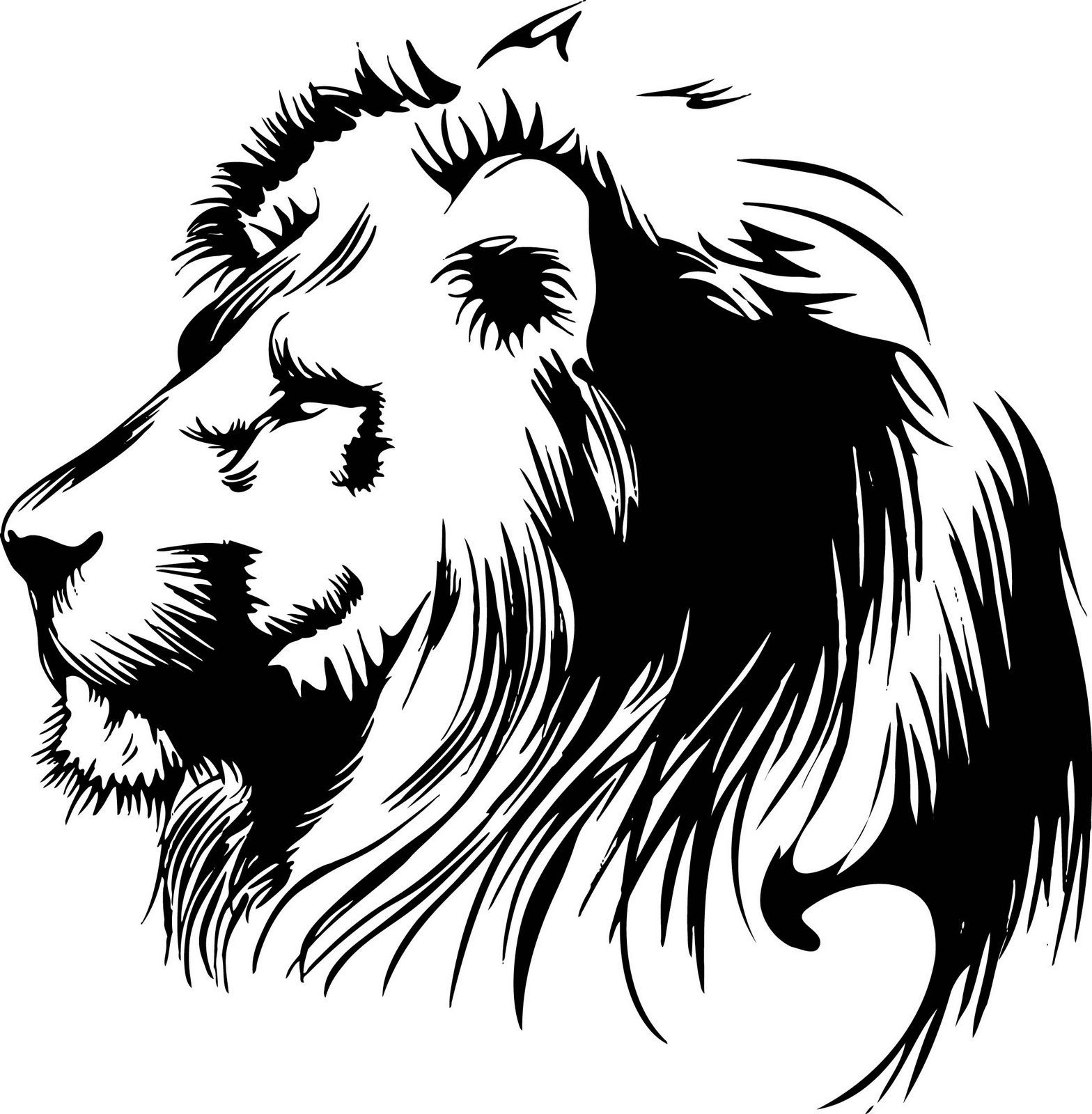 Vectorian Art  Lion Head Vectorfree Download Free Download Vector