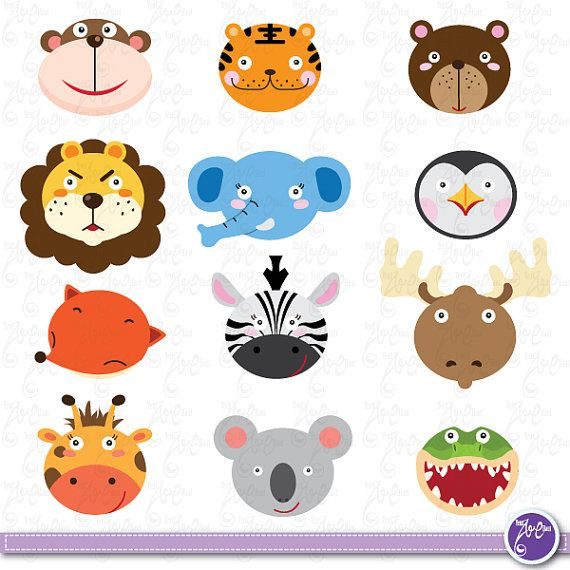 Wild Animals Clip Art Cute Animals Jungle Animals Zebra Tiger