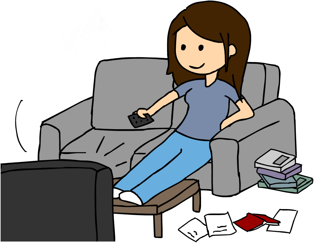 Image result for girl watching tv clipart