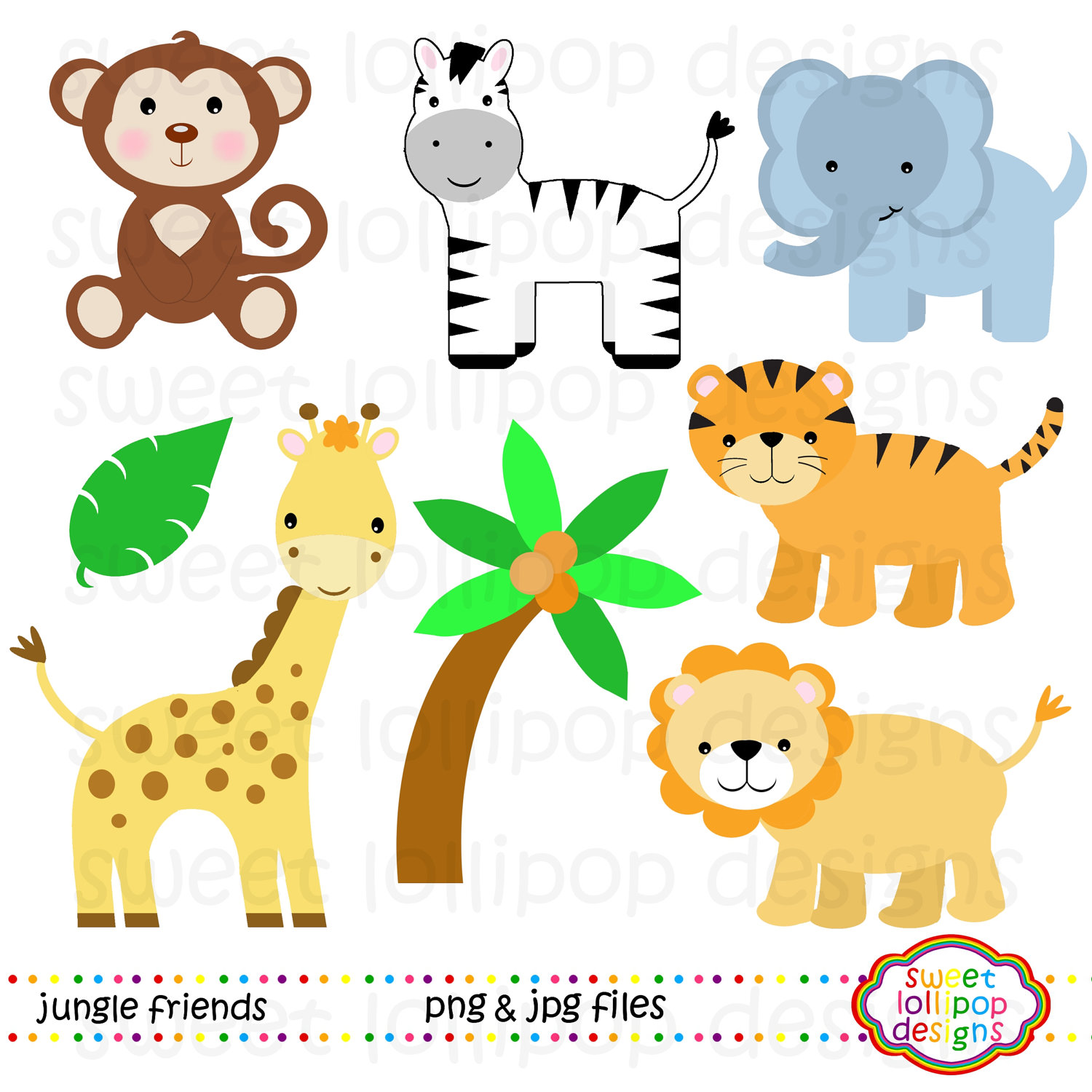 Baby Zoo Animals Clipart - Clipart Kid