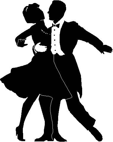 Dancing Black And White Clipart - Clipart Kid