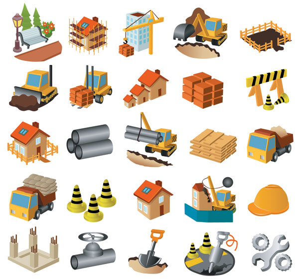 Architectural Theme Icon Vector Material Download Free Vectorpsd