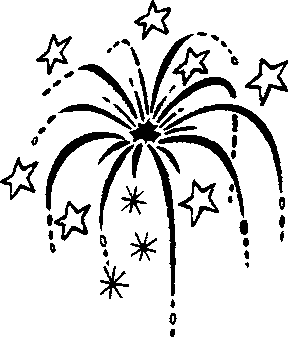 Black And White Fireworks Clipart Png