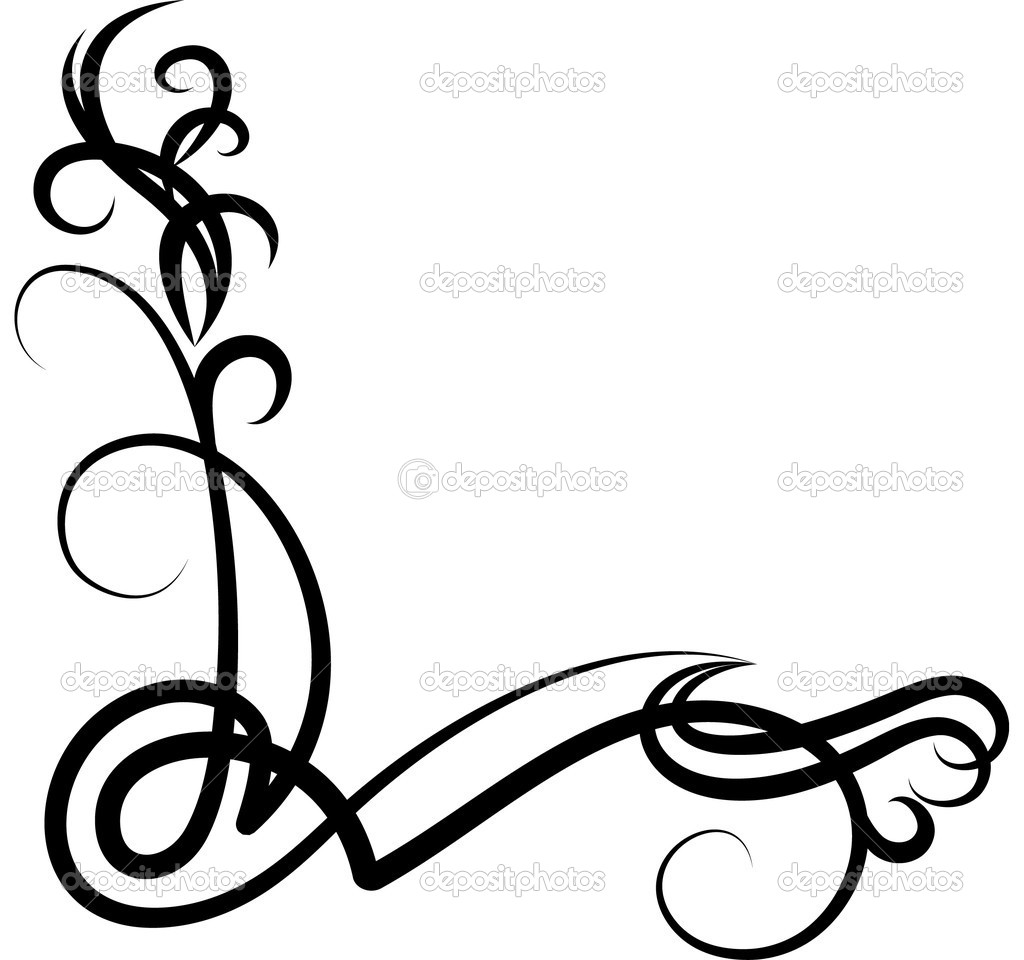 Corner Scroll Vector   Clipart Panda   Free Clipart Images
