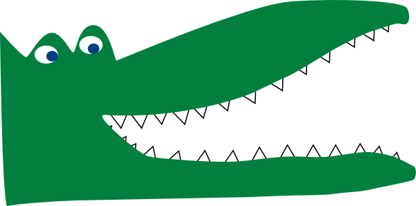 Crocodile Clipart Black And White   Clipart Panda   Free Clipart