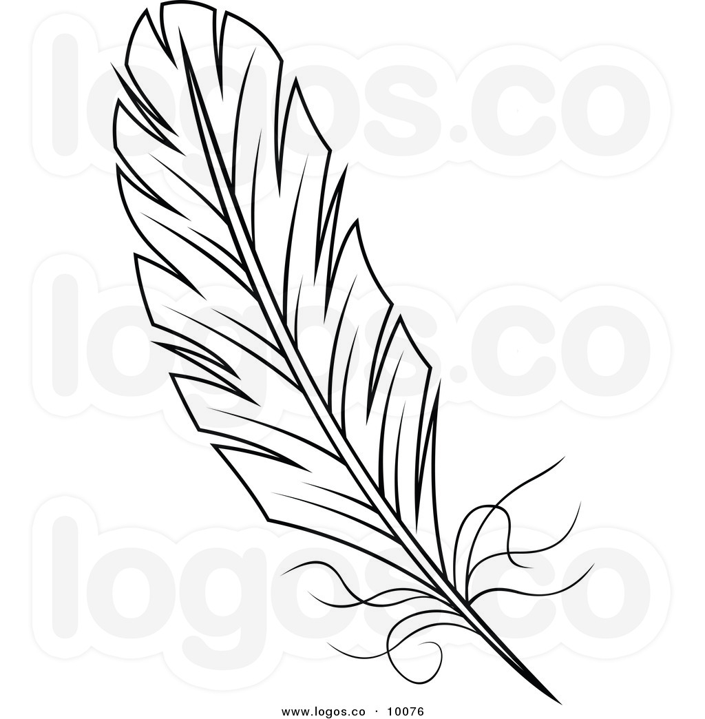 Feather Clipart Black And White   Clipart Panda   Free Clipart Images