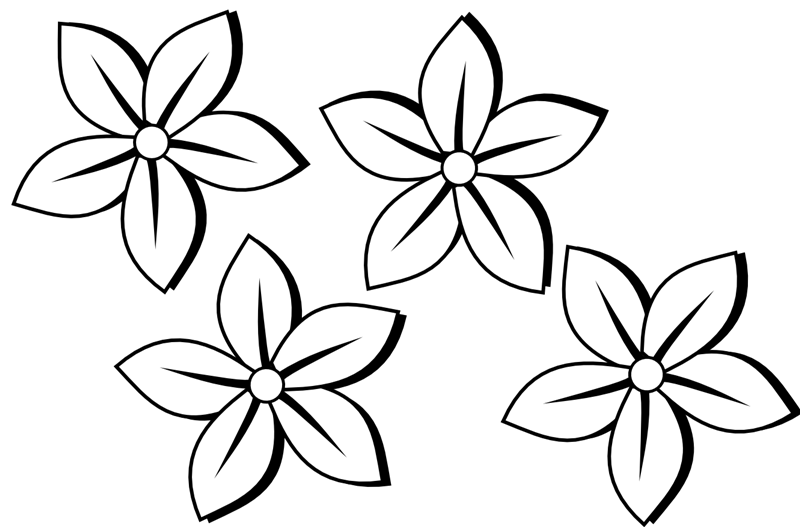 Small Flower Black And White Clipart - Clipart Kid