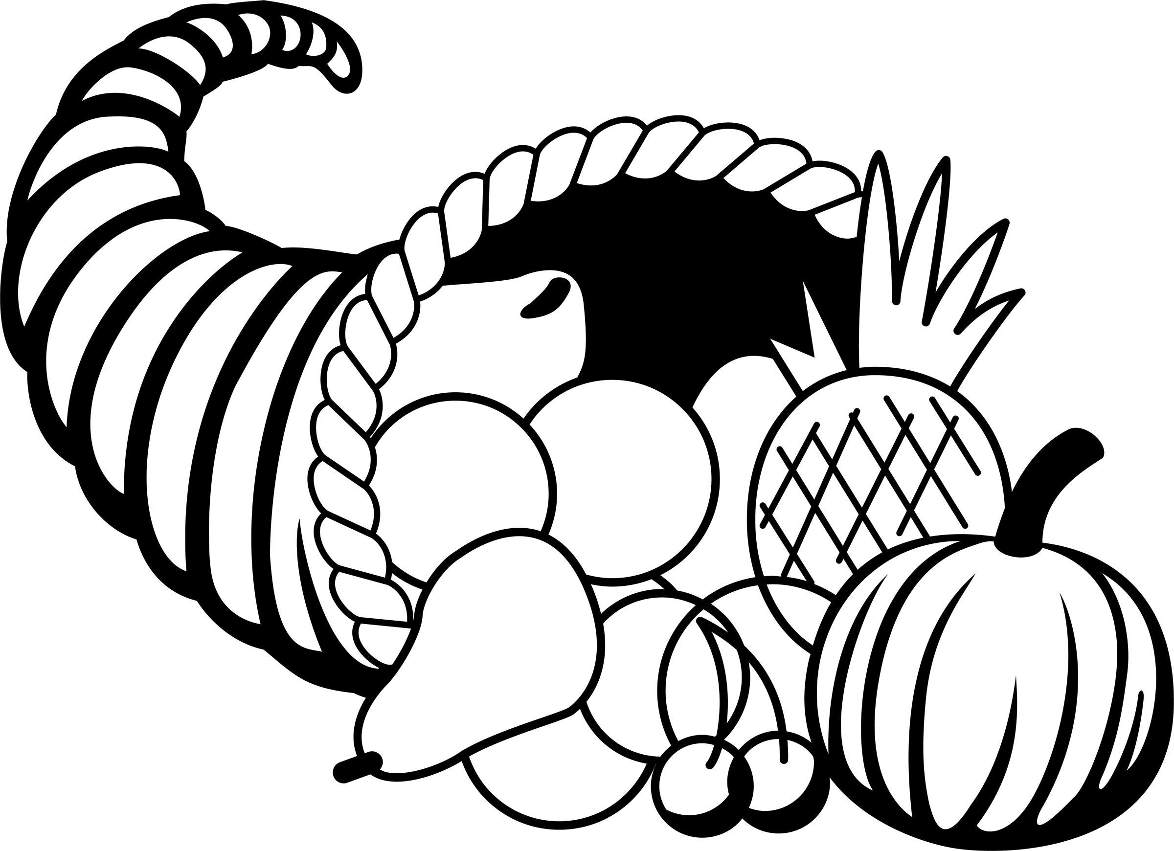 Free Thanksgiving Black And White Clipart Borders   Happy Thanksgiving