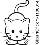Halloween Clip Art Black And White Cute Black And White Cat Clipart