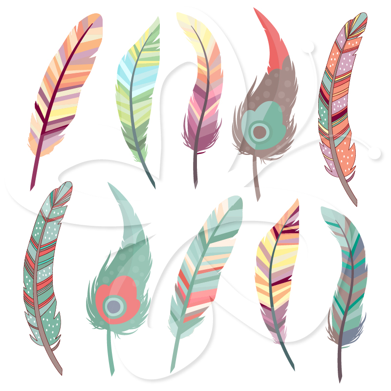 Home   All Clip Art   Beautiful Feathers Clip Art Set