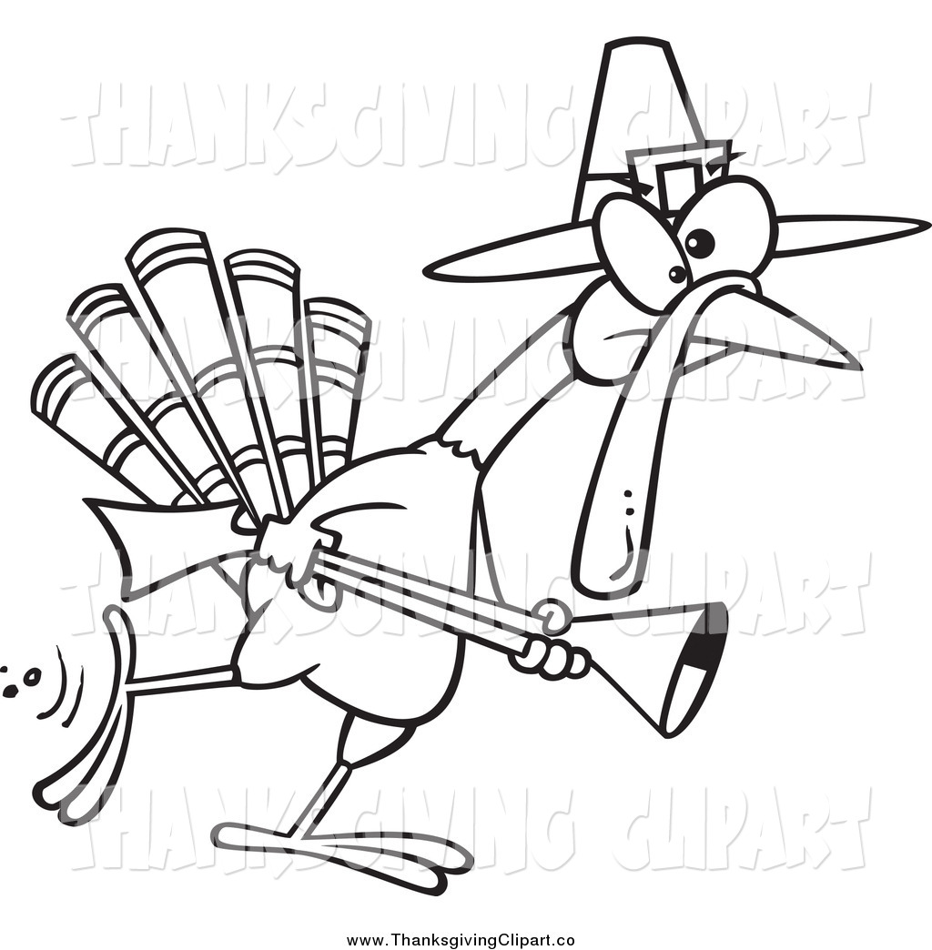 Larger Preview  Vector Clip Art Of A Black And White Thanksgiving