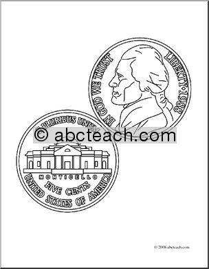 Nickel For Teachers Clipart Clipart Suggest