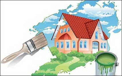 Painting A New House Vector Material Clip Arts Free Clip Art