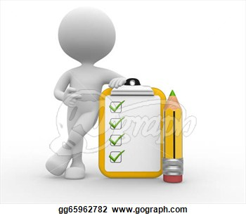 Person With A Pencil And A Clipboard  Checklist   Clip Art Gg65962782