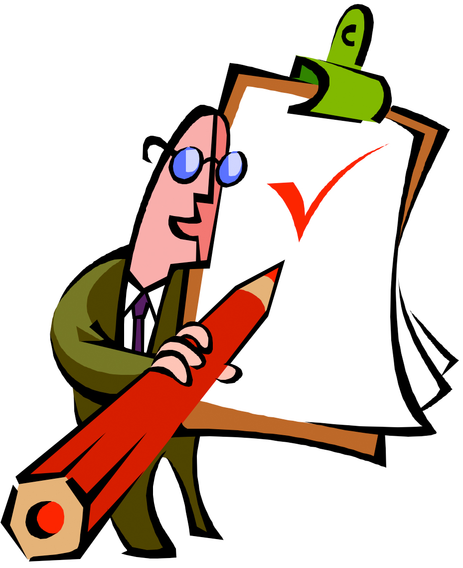 Clip Art Person With Checklist Clipart - Clipart Suggest