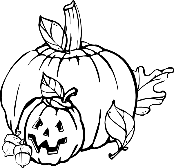 Pumpkins Black And White Clip Art At Clker Com   Vector Clip Art