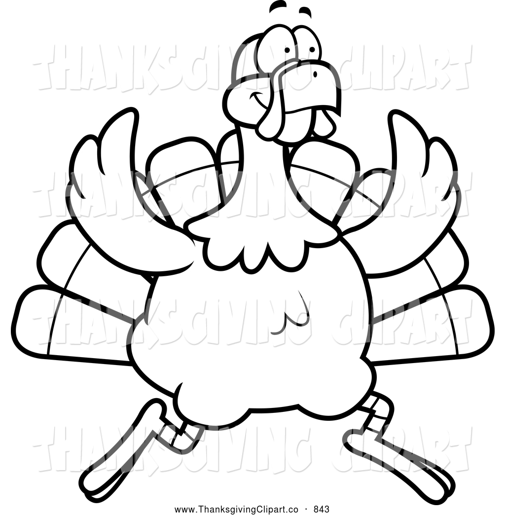 Slaughter Clipart Vector Clip Art Of A Black And White Running Turkey