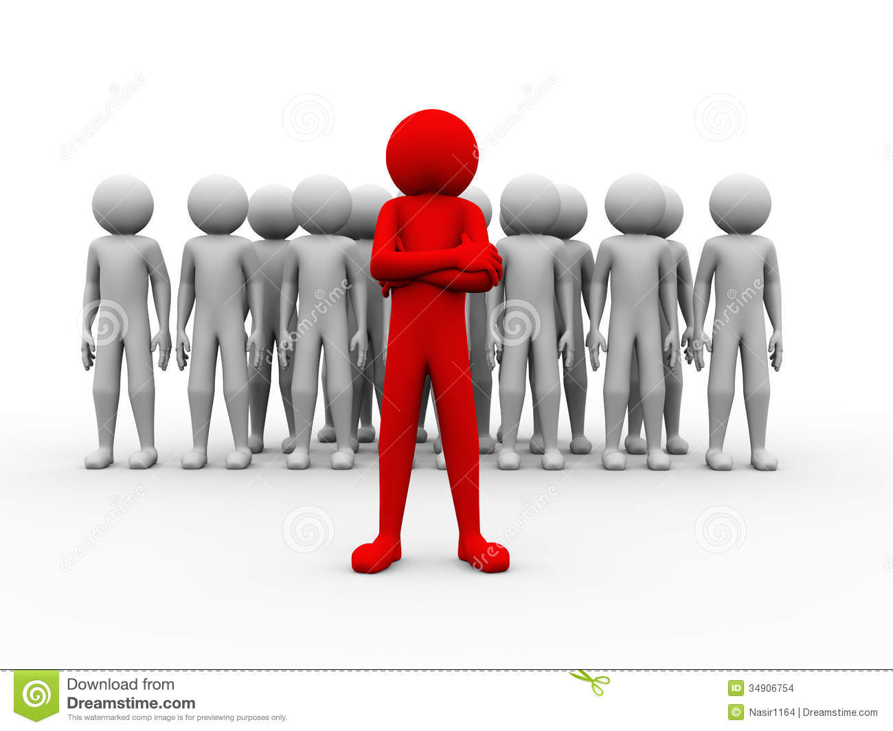 3d Successful Red Man Team Leader Illustration Stock Images   Image
