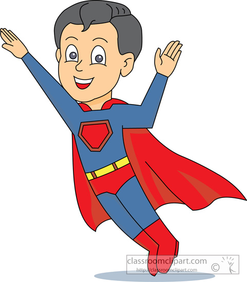 Cartoons   Super Hero Super Boy 1028   Classroom Clipart