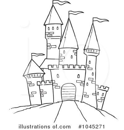 castle clip art black and white � cliparts
