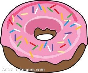 Donut with Sprinkles Clip Art