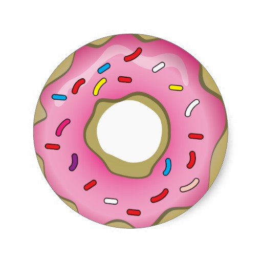 Donut Clipart Donut With Sprinkles Clipart