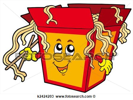 Drawing   Cartoon Chinese Food  Fotosearch   Search Clipart