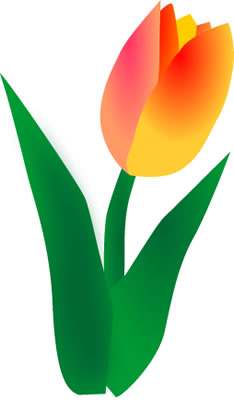 Easter Flowers Clip Art Orange Tulips Clipart