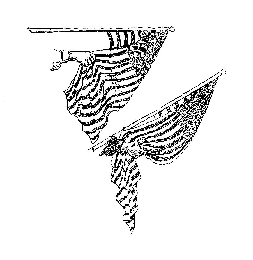Flag Clip Art This Vintage Illustration Of The American Flag Shows How