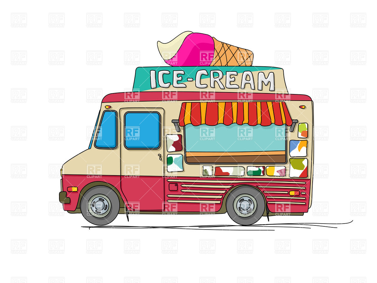 Food Delivery Truck Clipart Ice Cream Delivery Cartoon Van