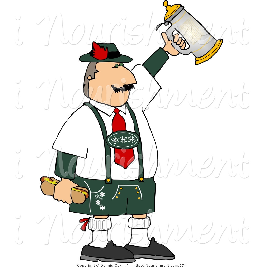German Beer Stein Clipart Clipart Of A Middle Aged