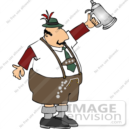 German Man Holding A Beer Stein Clipart    14545 By Djart   Royalty