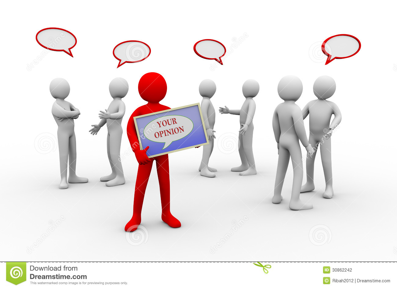 Group Debate Clipart Group Discussion Concept Stock