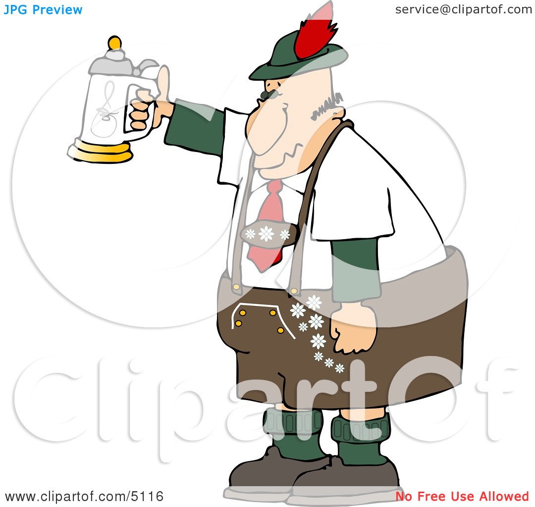 Man Celebrating Oktoberfest With A Beer Stein Clipart By Djart  5116