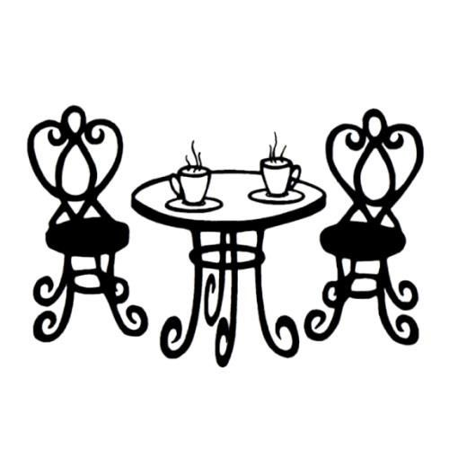 Paris Cafe Table French Unmounted Rubber Stamp By Sweetgrasstamps  4