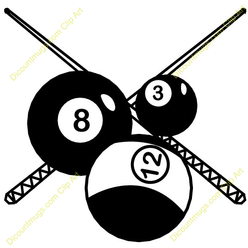 Pool Ball Clip Art Billiards Clipart Item 2