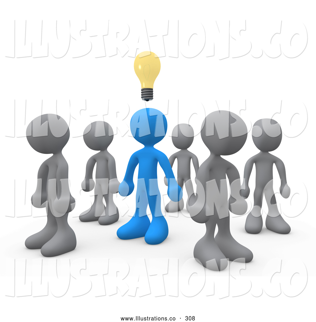 Preview  Royalty Free Stock Illustration Of A Unique One Blue Person