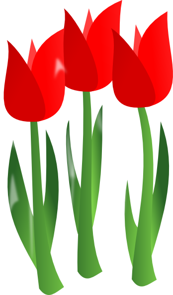 Red Tulips Clipart - Clipart Kid