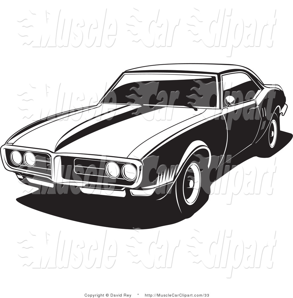 Royalty Free Pony Car Stock Muscle Car Clipart Illustrations