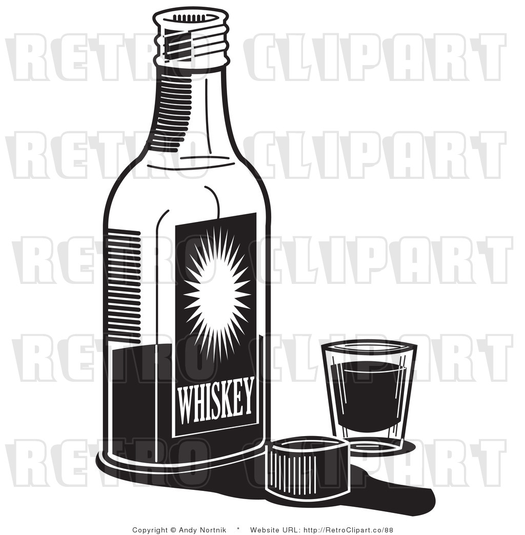 Alcohol Clipart Black And White Art Of A Black And White