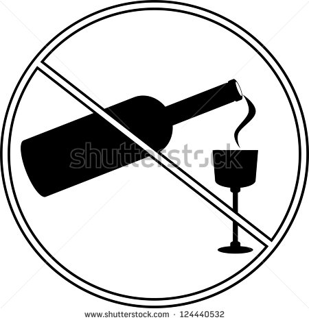 Alcohol Clipart Black And White No Alcohol Symbol White Circle