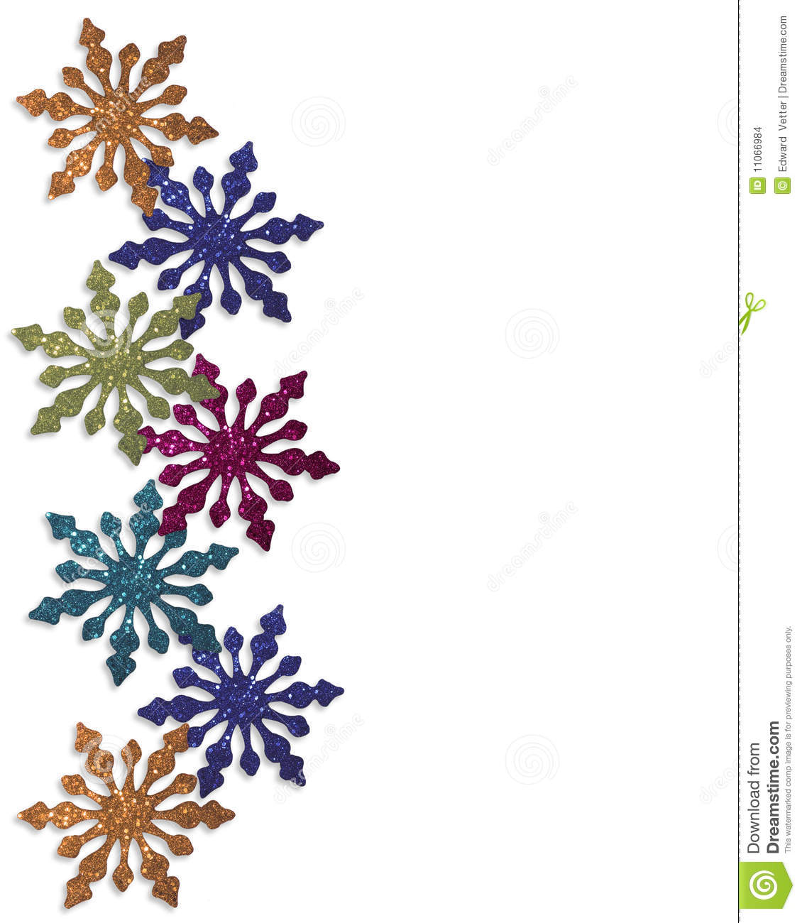 Christmas Design With Colorful Snowflakes Ornaments For Christmas