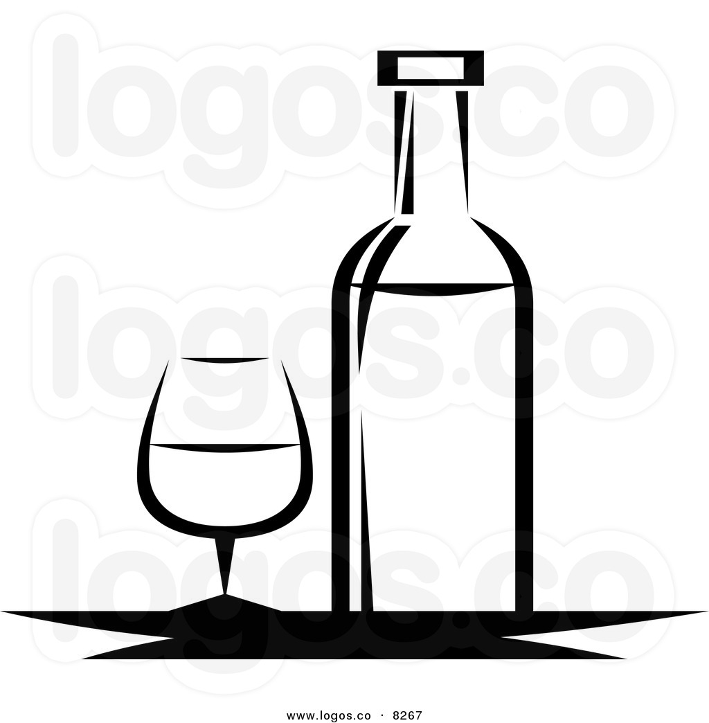 Wine Bottle Black And White Clipart - Clipart Kid