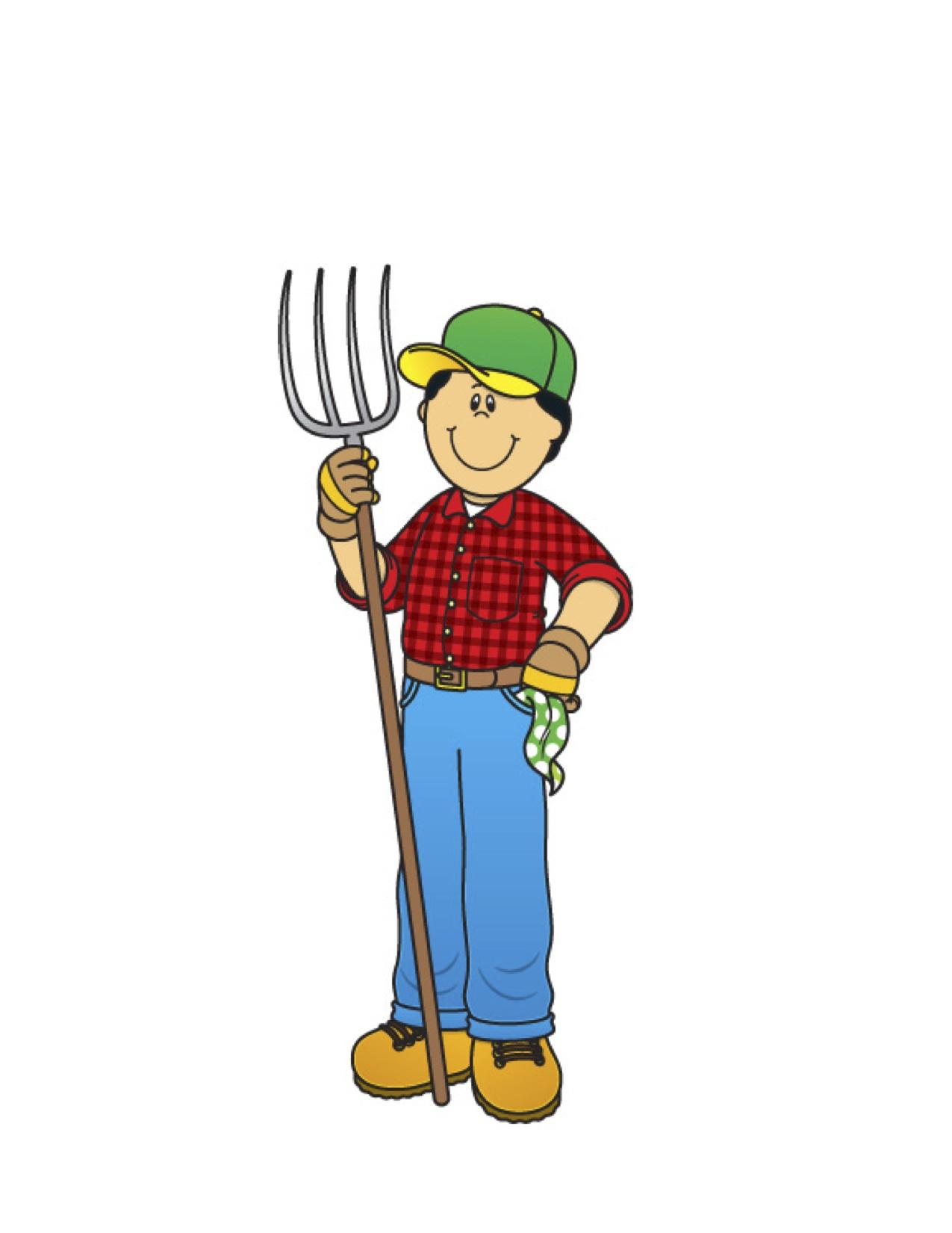 Cartoon Farmer Clipart - Clipart Kid