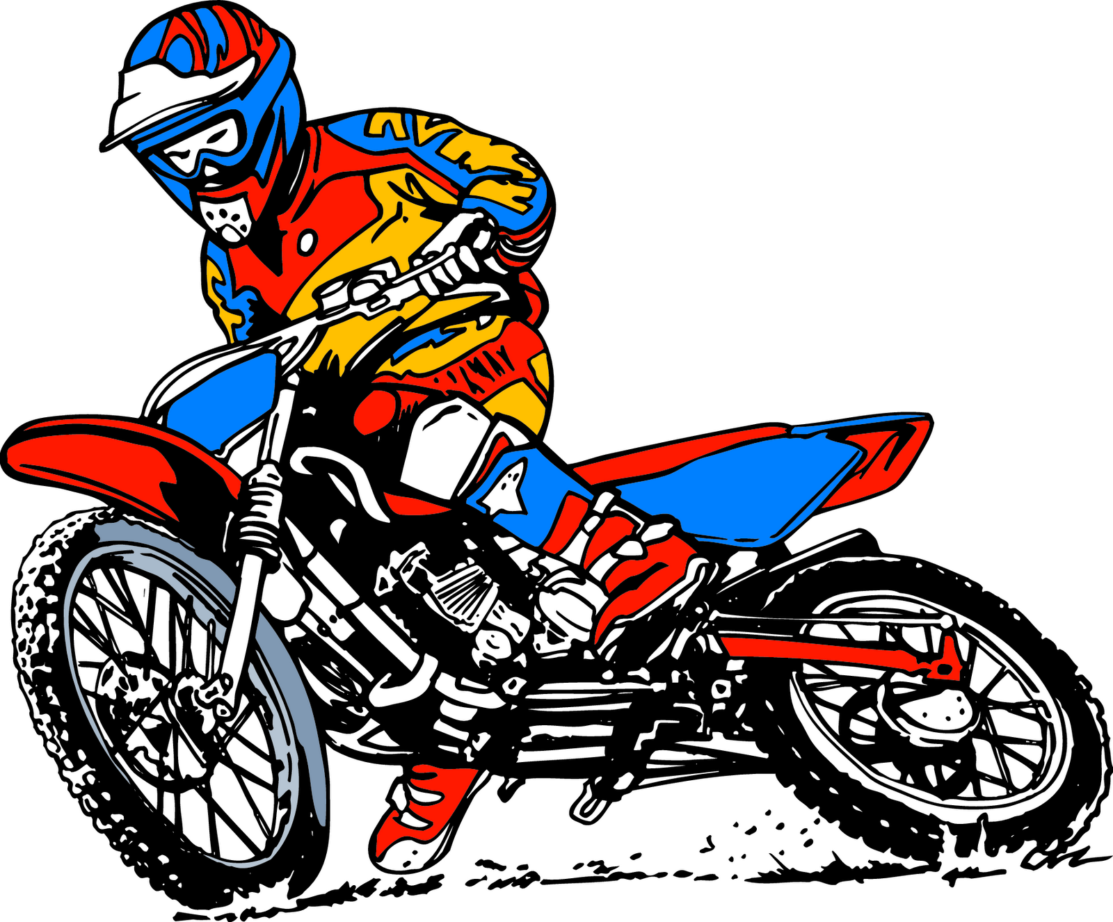 Cartoon Motorcycle Clipart - Clipart Suggest