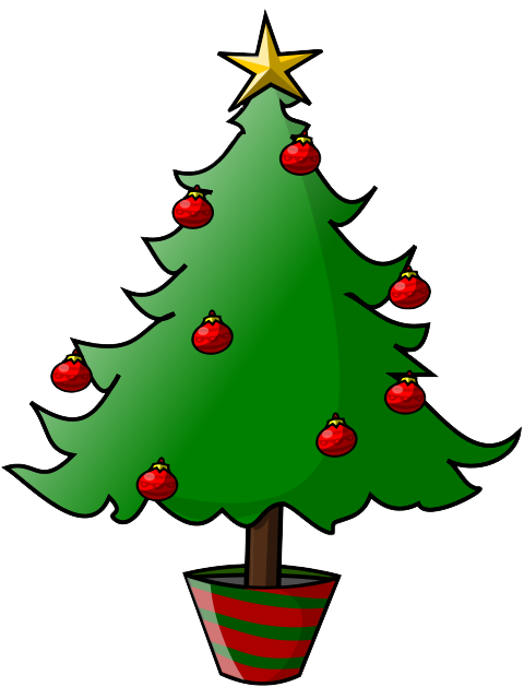 Simple christmas tree clipart suggest