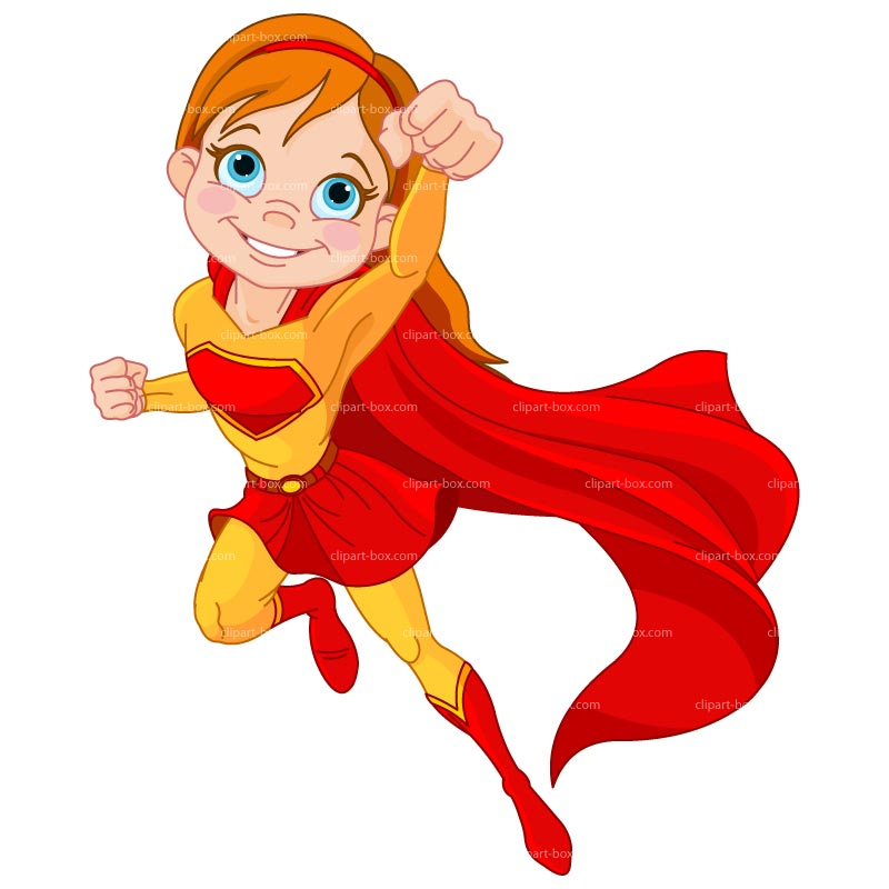 Super Girl Clipart - Clipart Kid