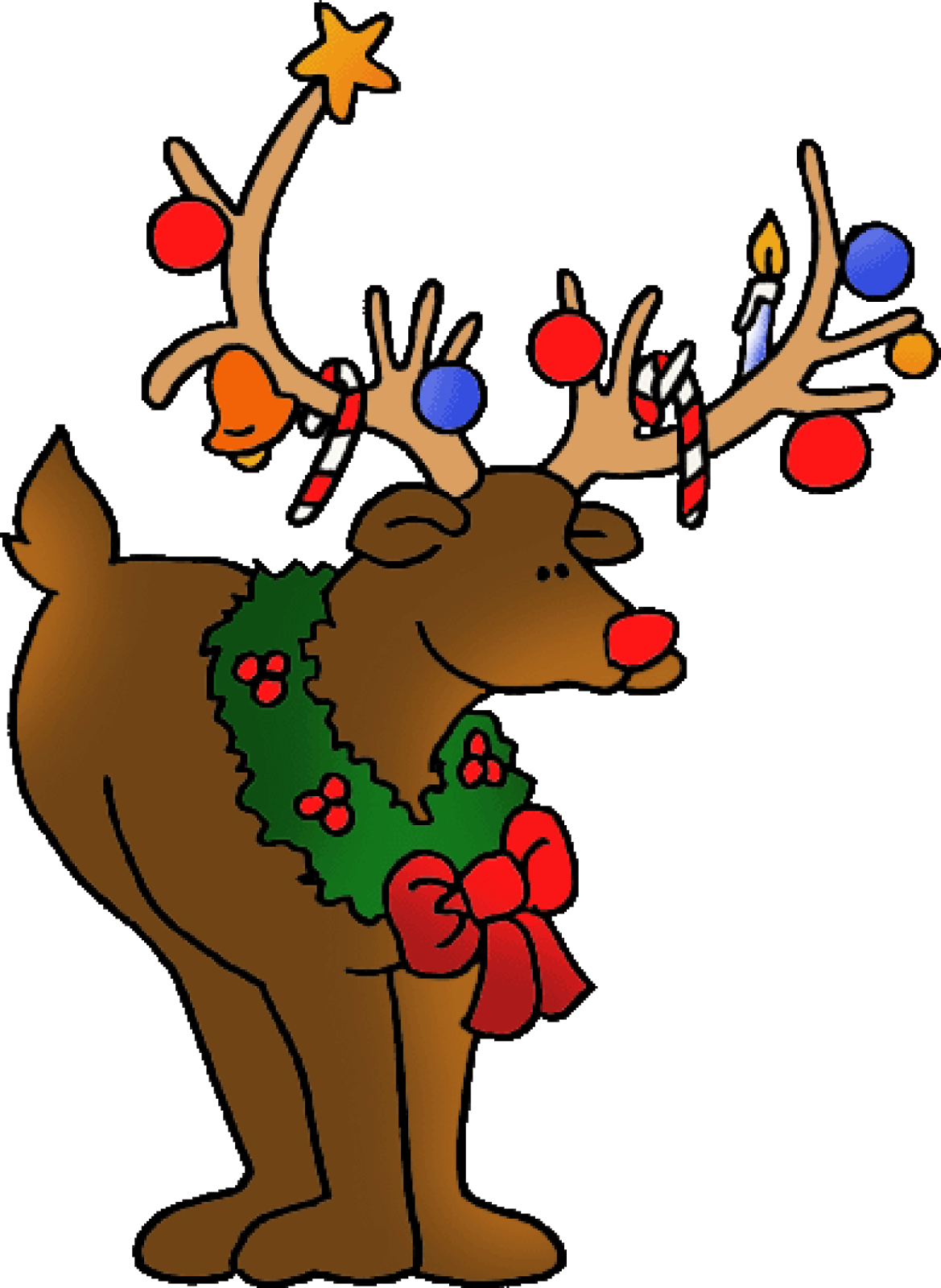 Merry Christmas Deer Clipart High Definition For Hd Wallpapers