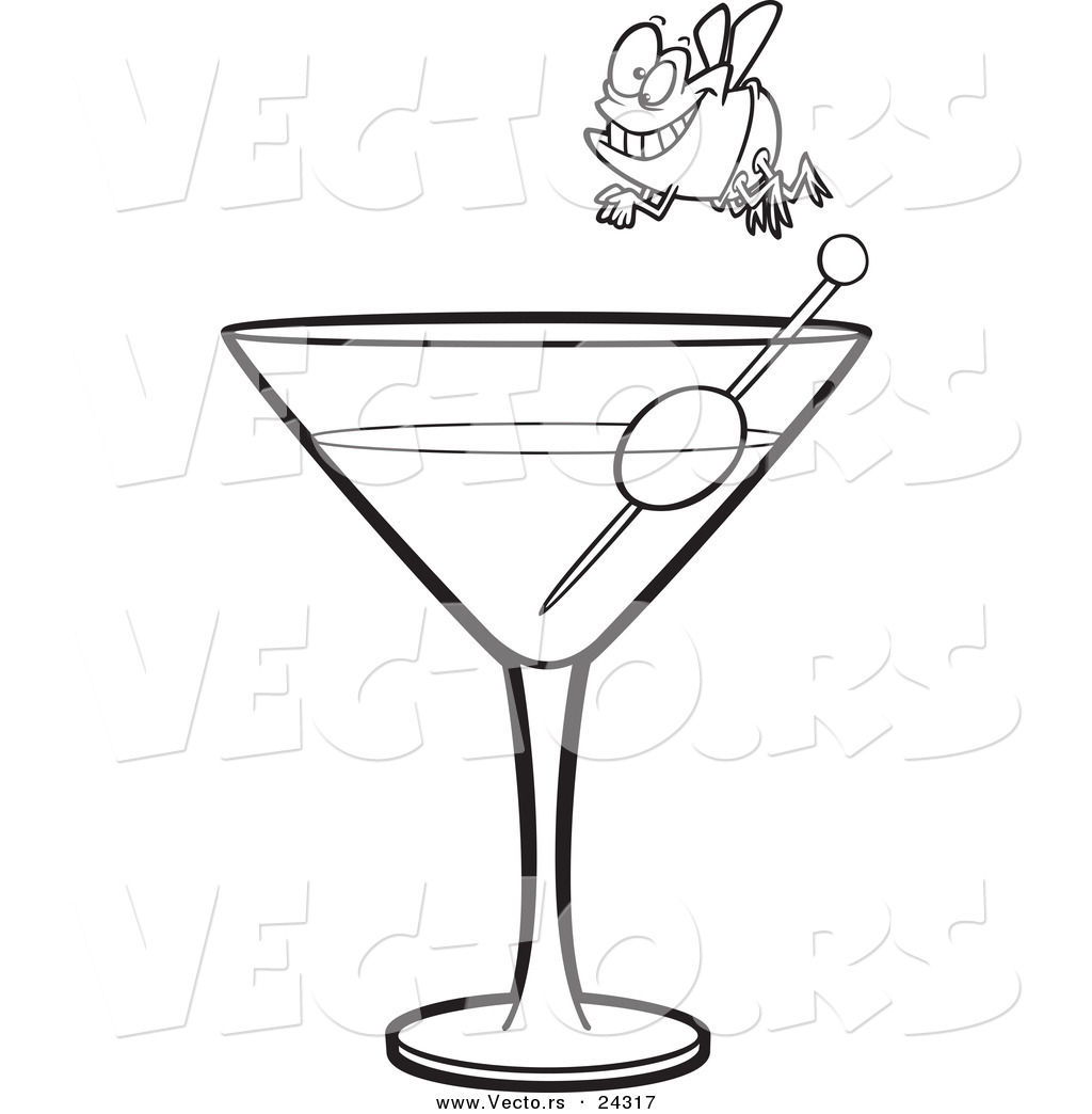 No Alcohol Clipart Black And White A Martini Black And White
