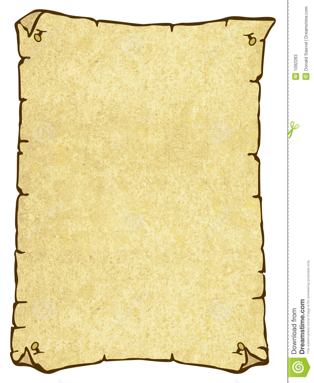 Parchment Paper In The Form Of A Wanted Poster